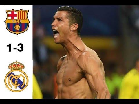 Download Barcelona vs Real Madrid 1-3 Highlights & Goals- 13 August 2017