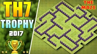 BEST TOWN HALL 7 (TH7) TROPHY BASE 'REMASTERED' 2017 ♦ TH7 NEW BASE DESIGN | CLASH OF CLANS
