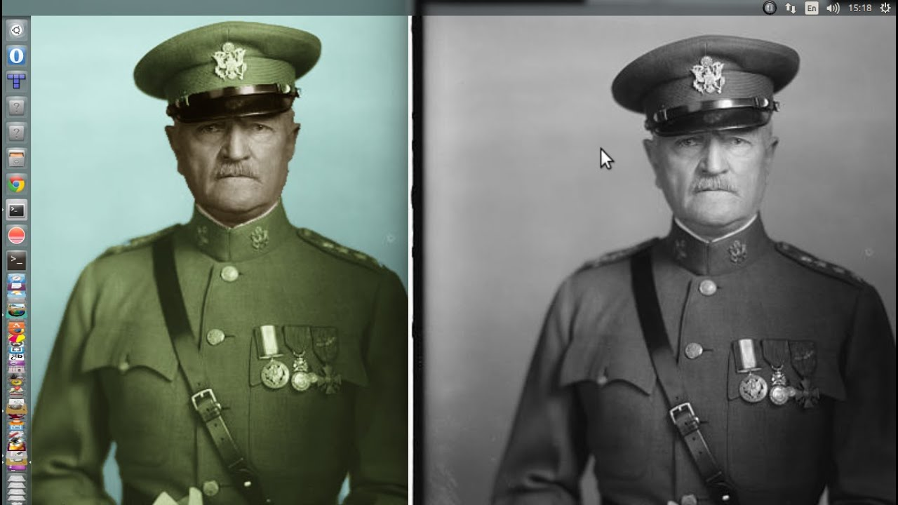 How to colorize old black and white photos with GIMP and G ...