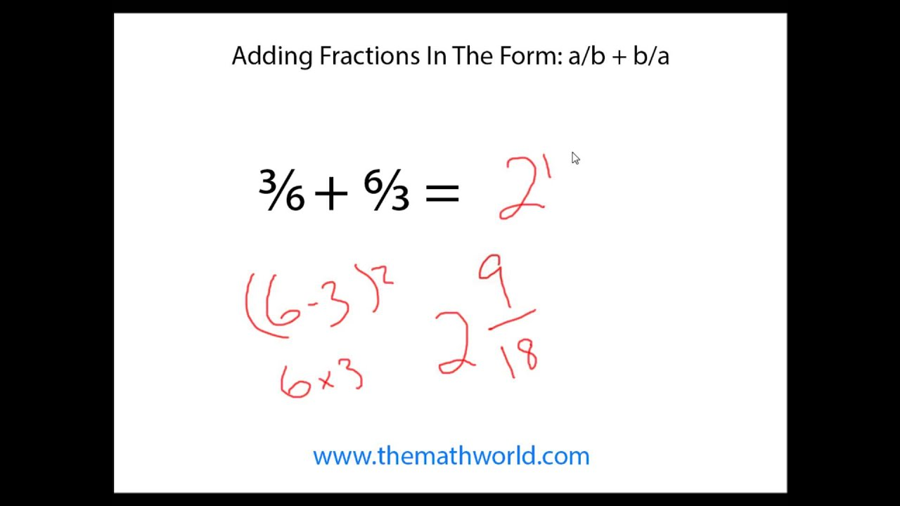 Math Trick To Add Fractions