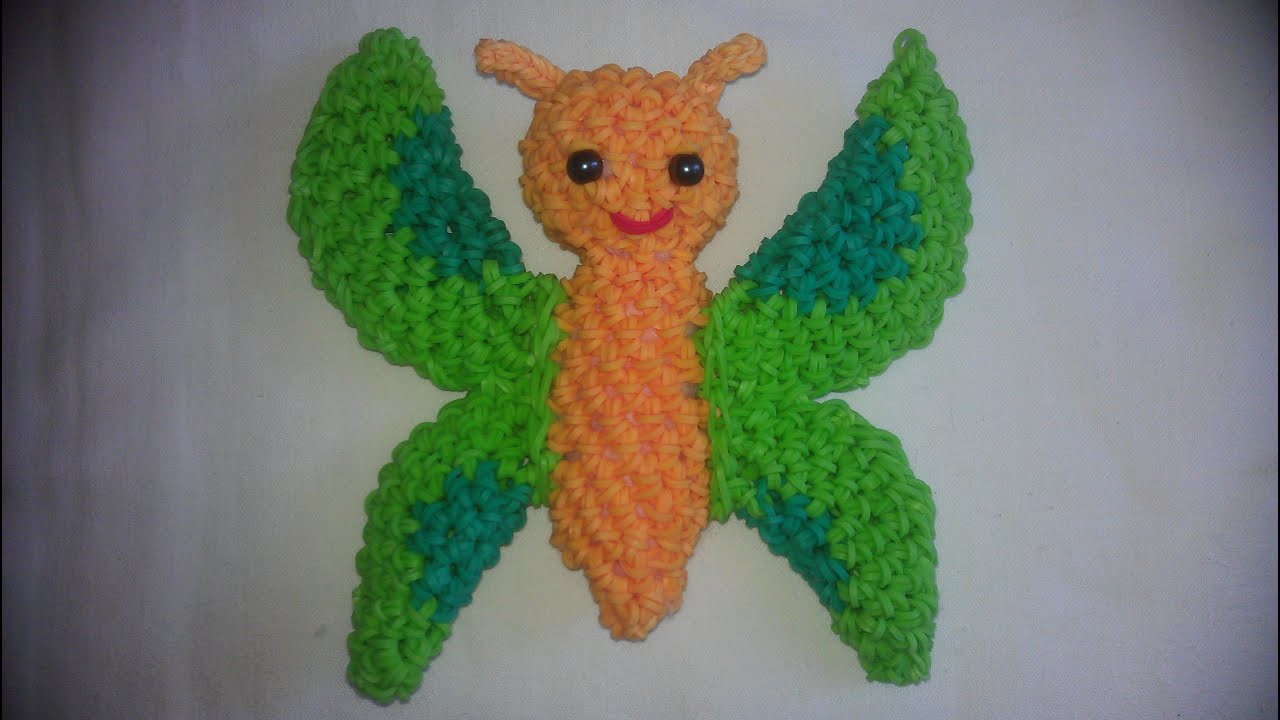 Amigurumi Monster Crochet Patterns : Rainbow loom Nederlands: vlinder amigurumi / loomigurumi ...
