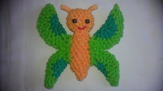 Rainbow loom Nederlands: vlinder amigurumi / loomigurumi butterfly. i.s.m. Renata Bruin