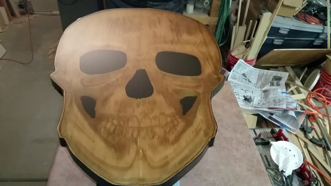 3d skull coffee table youtube 3d skull coffee table geotapseo Gallery