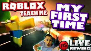 MY FIRST TIME playing Roblox – TEACH ME ! 👷 FUNNY COMEDY ► Roblox NOOB PC 🔴 Live Rewind