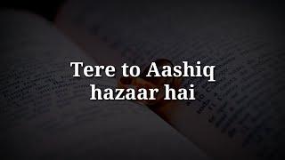 Tere to aashiq hazaar he Very sad heart touching shayari Hindi sad shayari