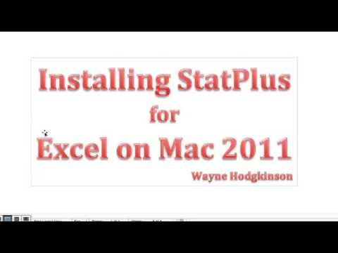 Install StatPlus Addon For Excel For Mac 2011