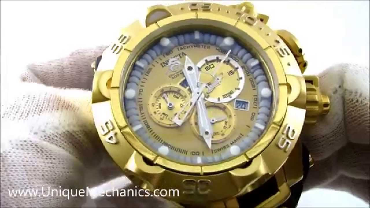 35ca0ea72be Invicta Watch Subaqua Noma Review Chrono Gold Dial SS 15926 - YouTube