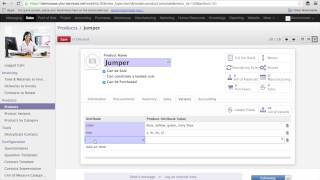 Working with Product variants in Odoo