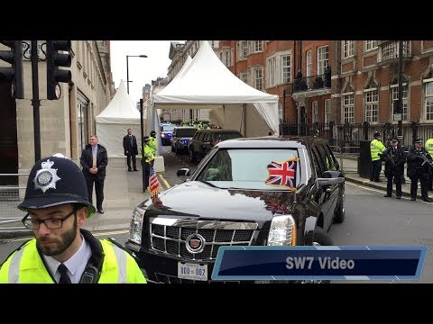 President Obama visit to London, UK April 2016. Motorcade, Corbyn, Secret Service