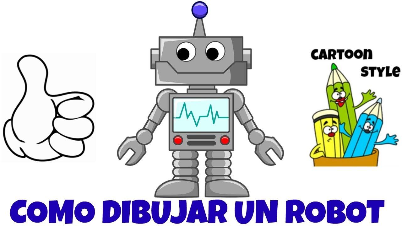 Worksheet. Como Dibujar un Robot  How to Draw a Robot  Cartoon Style  YouTube