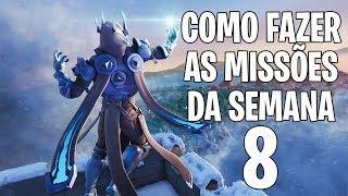 COMO FAZER AS MISSÕES DA SEMANA 8 - Fortnite Battle Royale