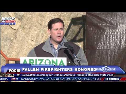 FNN: Granite Mountain Hotshots Honored with New Arizona State Park - FULL CEREMONY