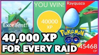 40,000 XP FOR EACH LEGENDARY RAID IN POKEMON GO | RARE CANDY GRINDING