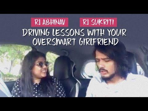 Driving Lessons With Your Oversmart Girlfriend | RJ Abhinav | RJ Sukriti