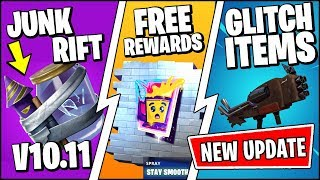 *NEW* FORTNITE UPDATE RIGHT NOW - GLITCHED ITEMS, FREE REWARDS, NEW RIFT ZONE EXPLOSION