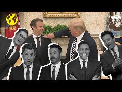 Macron-Trump : un régal pour les talk shows américains