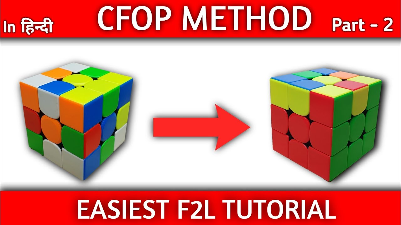 CFOP Tutorial : Easiest F2L Tutorial | Rubik's cube solve under 30 seconds | (Part - 2 F2L)