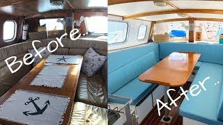 COMPLETE OVERHAUL of our Sailing Catamaran Interior!