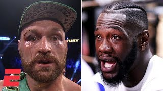 'I want you next, bum!' - Tyson Fury calls out Deontay Wilder after Wallin victory | Top Rank Boxing