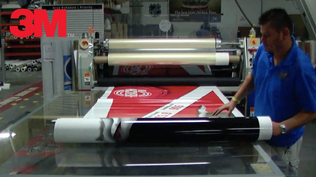 Vinyl Graphics Laminating Machine Youtube