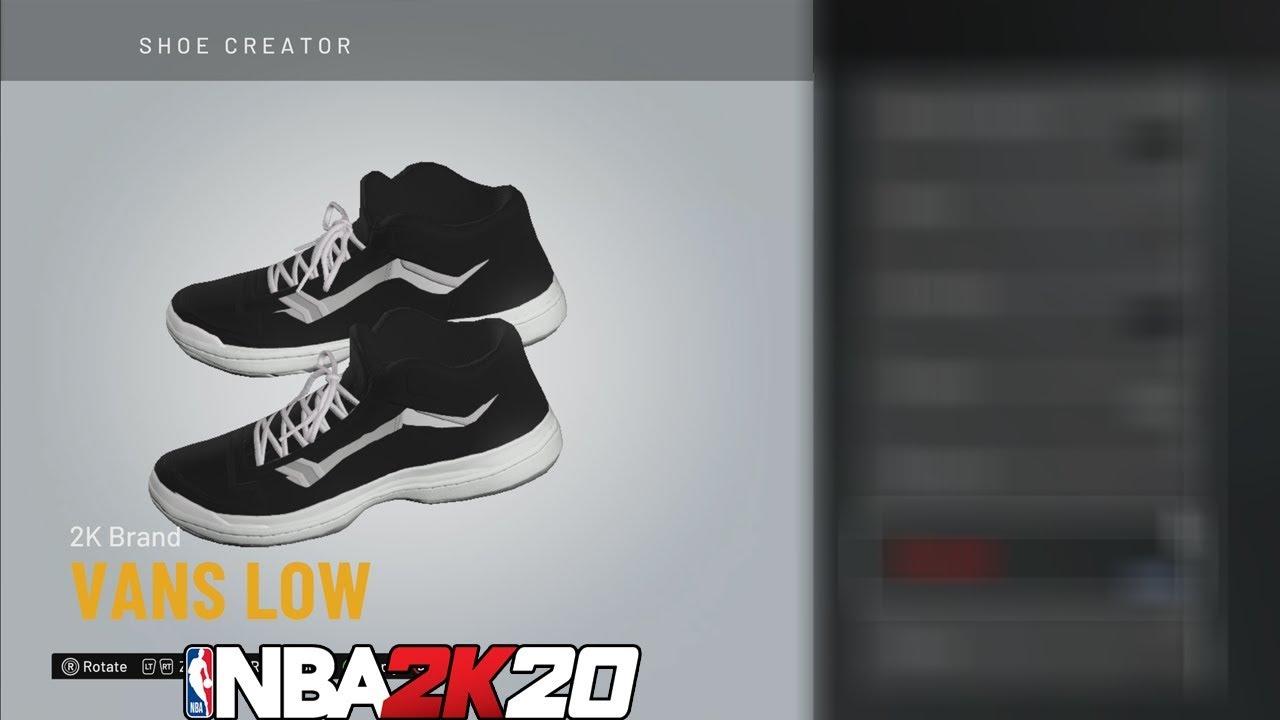 NBA 2K20 Shoe Creator Vans Low Top