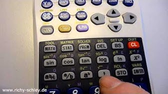Lottozahlen 6 aus 49 mit Taschenrechner ermitteln (Sharp EL-9900G SII)