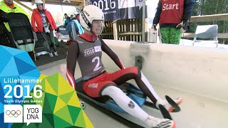 Luge - Brooke Apshkrum (CAN) wins Women's gold | Lillehammer 2016 Youth Olympic Games