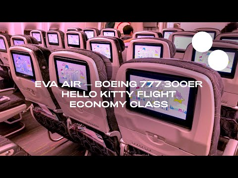 FLYING EVA AIR'S HELLO KITTY BOEING 777-300ER ECONOMY — SING