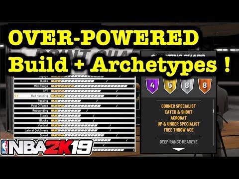 NBA 2K19 OVERPOWERED Build + Best Archetype to Score ! BEST HOF Badges in  2K19  OP Guard Build #1