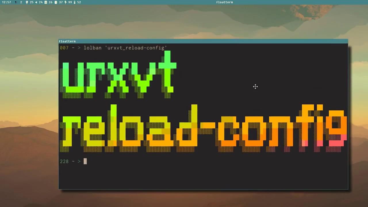 Let's Linux #021: urxvt reload-config