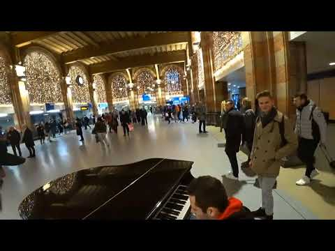 RajjPatel plays Piano at Amsterdam's Bus Station