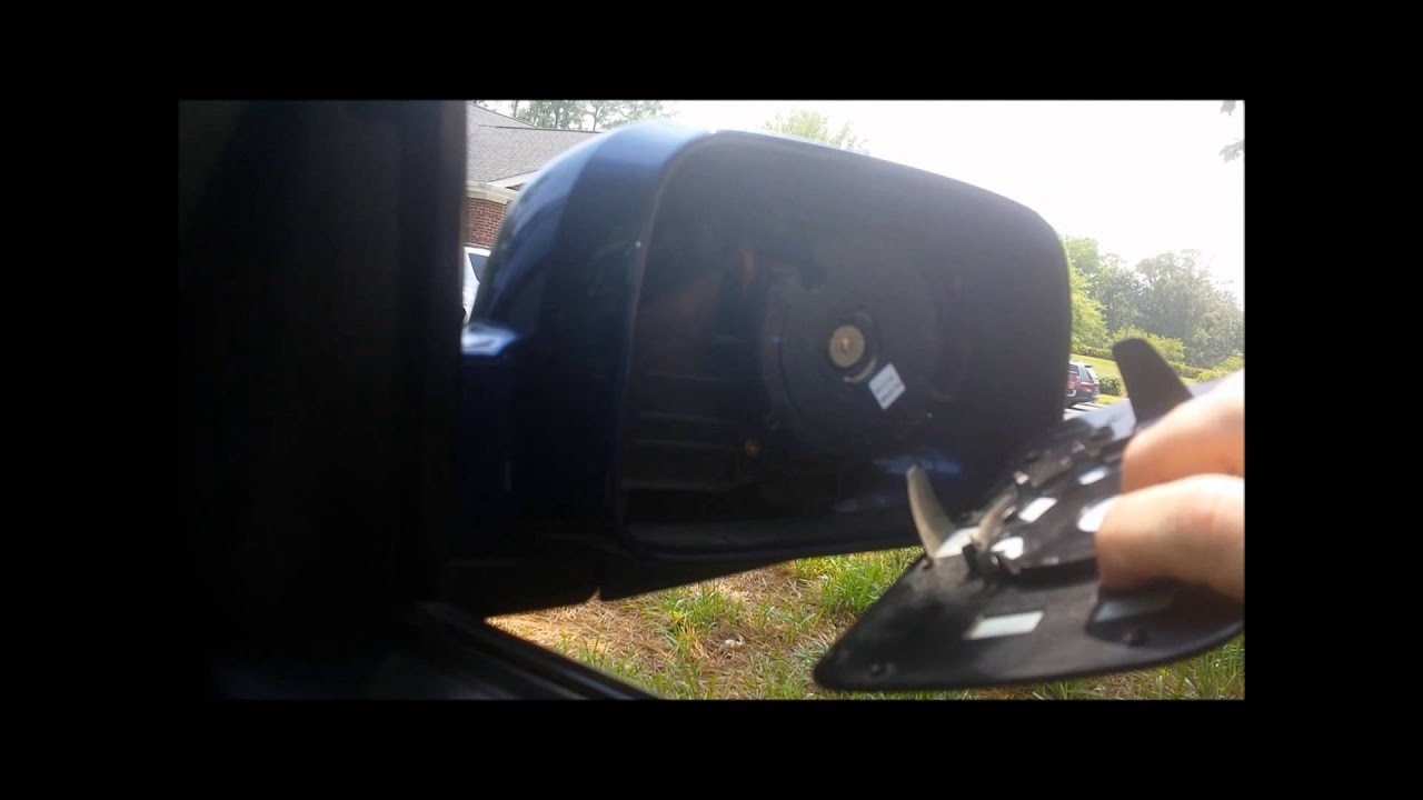 2004 Honda CRV Passenger Mirror Glass Replacement - YouTube