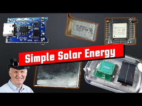 #383 Cheap and simple Solar Power for our small Projects (ESP32, ESP8266, Arduino)