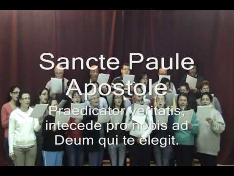 Sancte Paule - an Antiphon to St Paul - composed by Tony Pace.wmv