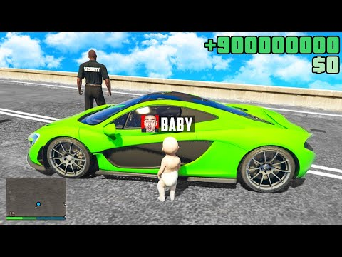 BABY klaut LUXUS AUTO in GTA 5 RP!