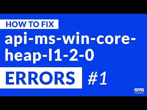 api-ms-win-core-heap-l1-2-0.dll Missing Error | Windows | 2020 | Fix #1
