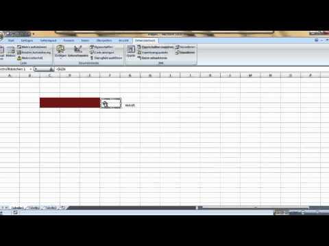 Excel Tut - Zellenfarbe per Kontrollkästchen ändern