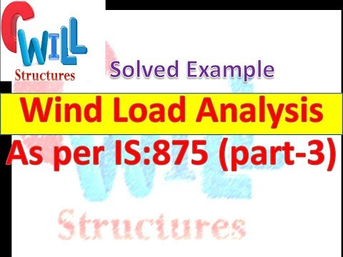 Explanatory Example for the Calculation of wind Load as per
