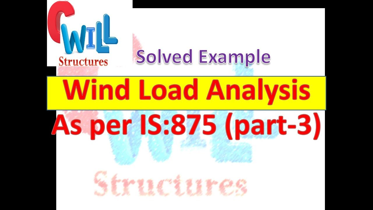 Explanatory Example for the Calculation of wind Load as per IS-875(part  -3)-1987