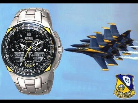 Resenha do Relógio Citizen SkyHawk Blue Angels JR3090