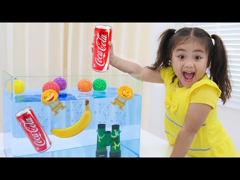 Annie & Sammy Pretend Play Sink Or Float Science Experiment For Kids With Toys