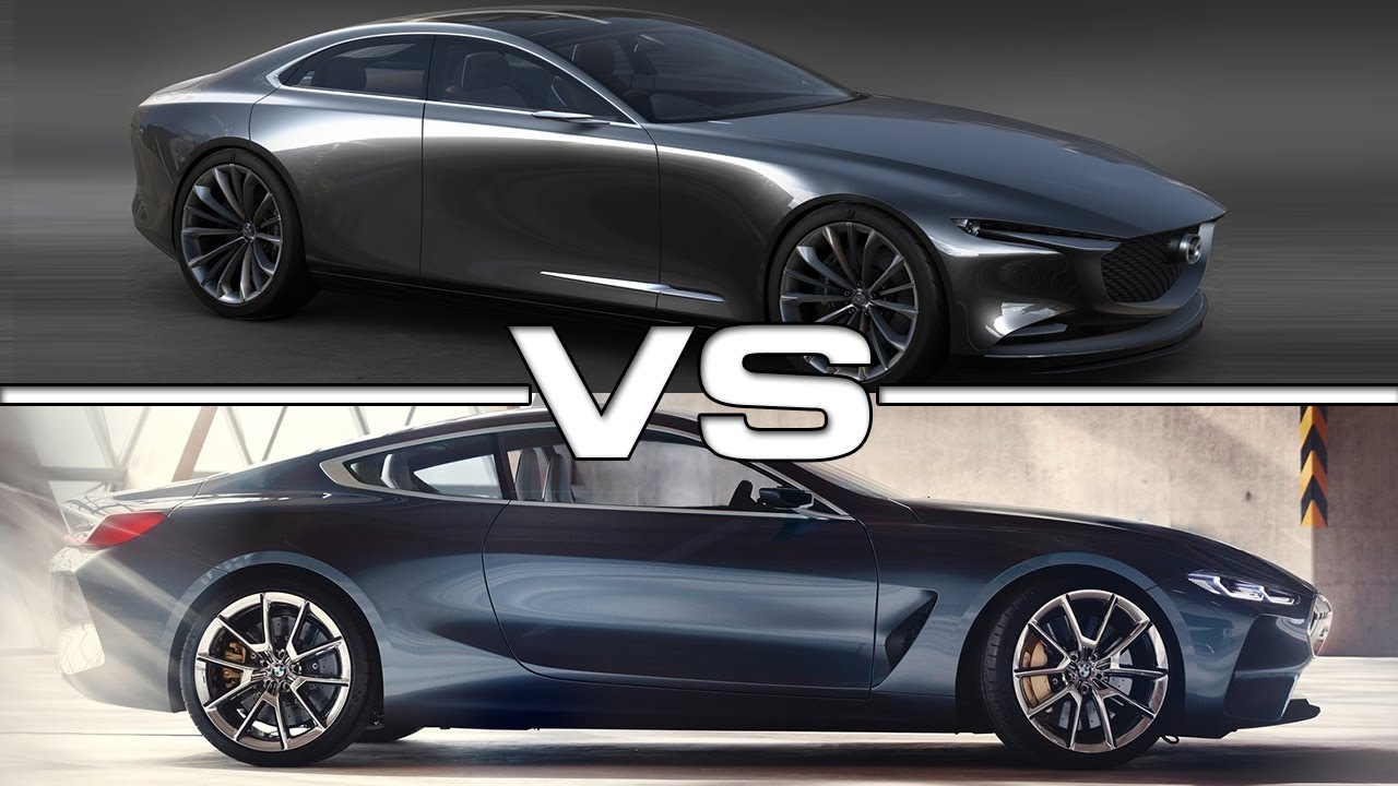 2017 BMW 6 Series >> 2018 Mazda Vision Coupe vs 2018 BMW 8 Series Coupe - YouTube