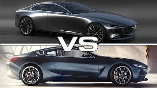 2018 Mazda Vision Coupe vs 2018 BMW 8 Series Coupe