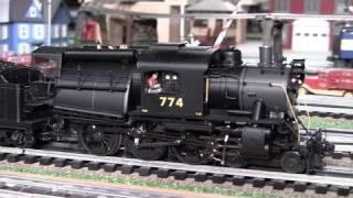 MTH Premier CNJ Camelback Ten-Wheeler (4-6-0) O-Gauge Steam Locomotive in True HD 1080p