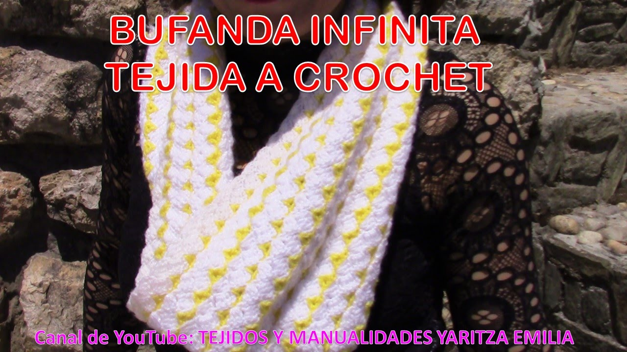 Bufanda Infinita Circular tejida a crochet fácil y rápido - YouTube