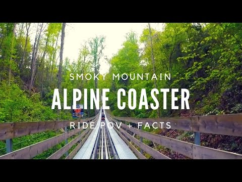 Ride The Smoky Mountain Alpine Coaster! POV (HD Quality)