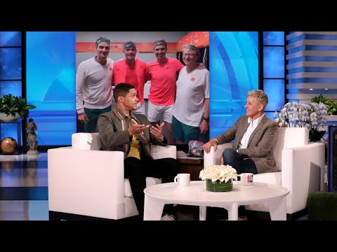 Trevor Noah Trained With Pro Tennis Coaches To Play Against Roger Federer