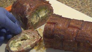 Stuffed Jalapeno Bacon Wrapped Fattie