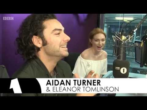 Poldark's Aidan Turner and Eleanor Tomlinson on The BBC Radio1 Breakfast Show with Nick Grimshaw