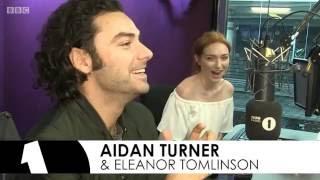 Poldark's Aidan Turner and Eleanor Tomlinson on The BBC Radio1 Breakfast Show with Nick Grimshaw